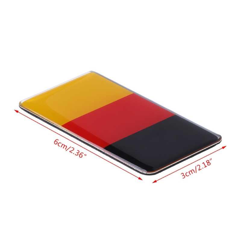 ドイツ旗グリルエンブレムバッジフォルクスワーゲンゴルフ 7 ゴルフ 6 ポロgti vwティグアンアウディA4 A6 カーアクセサリー 1pc
