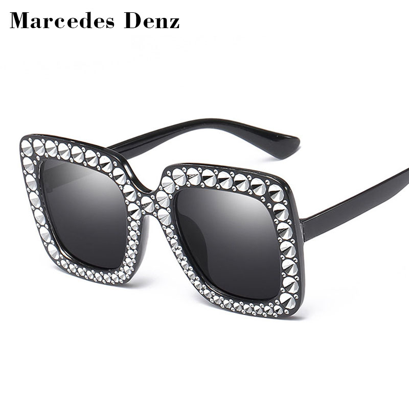 Billige Imitation Diamant Quadrat Sonnenbrille Neue Luxusmarke ...