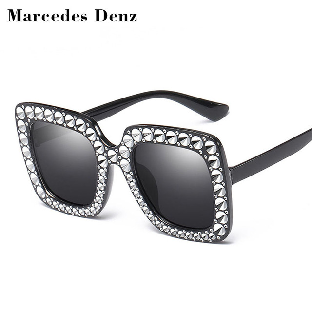 d6c1583a57e4e Cheap Imitation Diamond Square Sunglasses New Luxury Brand Designer Ladies Women  Frame Mirror Big Frame Sun Glasses For Female