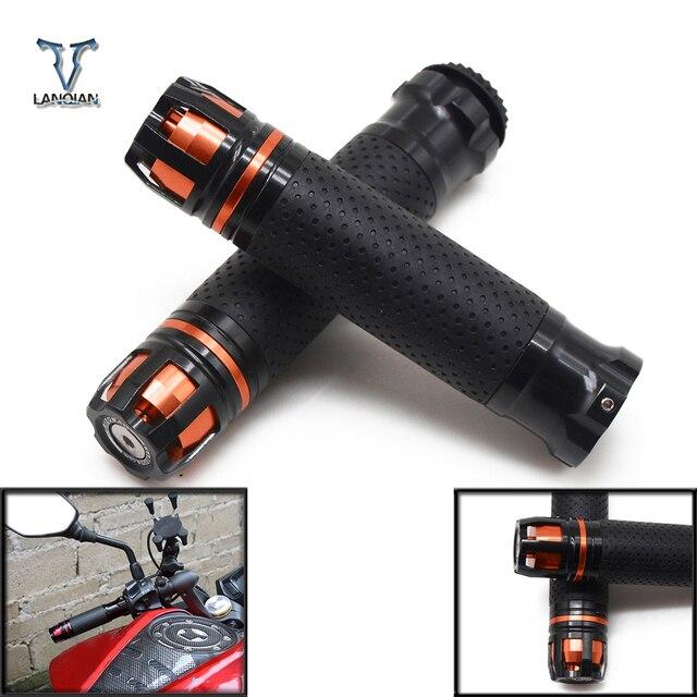 """7/8 """"รถจักรยานยนต์ CNC อุปกรณ์เสริม Handle Grips รถจักรยานยนต์ Handlebar สำหรับ Suzuki gsxr 750 gladius sfv650 SV650 sv 650 TL1000S"""