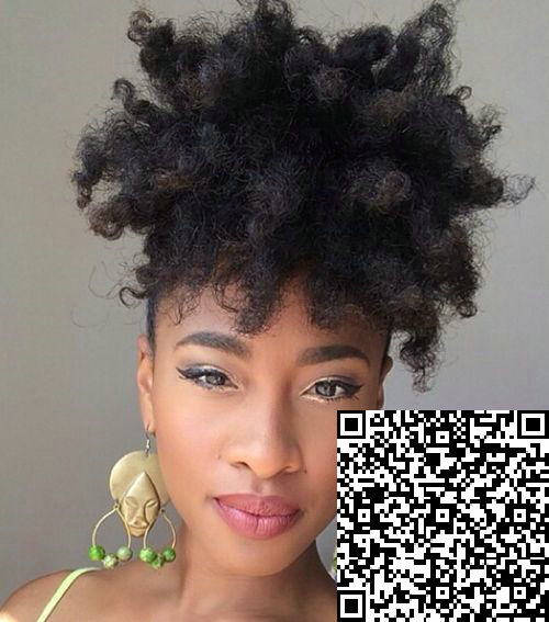 Kinky curly Drawstring ponytails African american 100 human hair Afro ponytail hairstyle natural ...