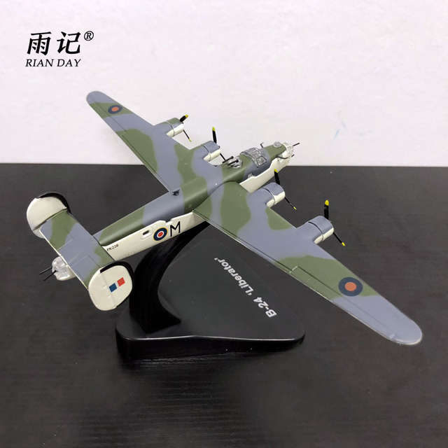 US $49 97 |3pcs/lot Wholesale YJ 1/144 Scale Military Model Toys UK B 24  Liberator Bomber Diecast Metal Plane Model Toy-in Diecasts & Toy Vehicles