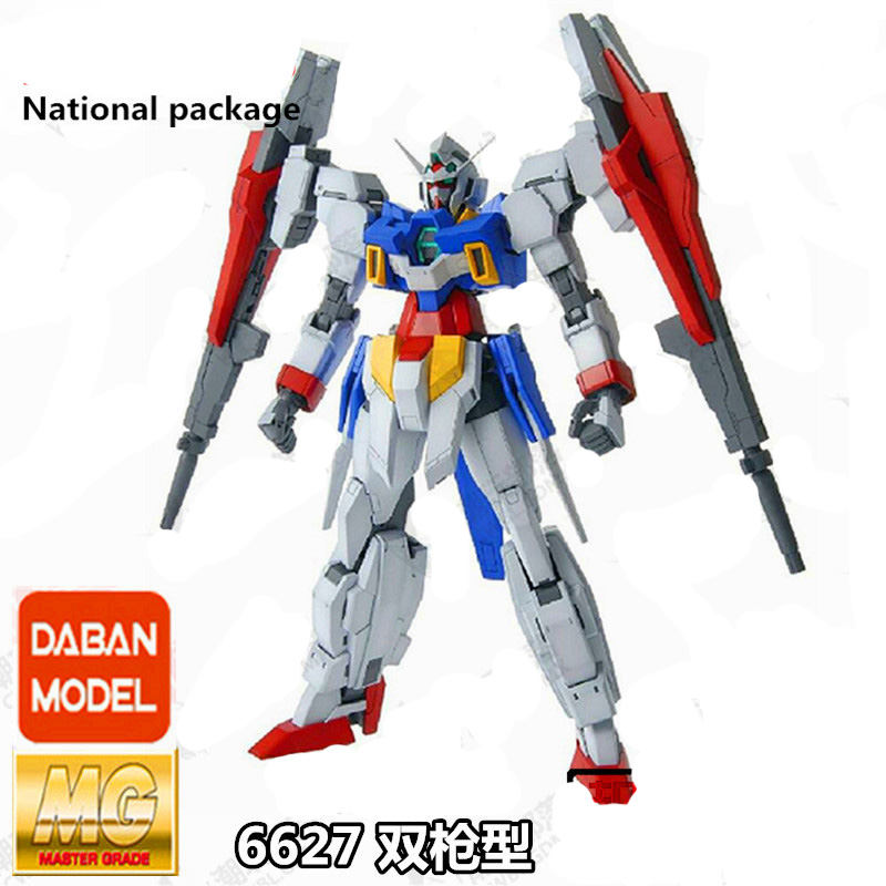 DABAN anime figures Gundam MG 1/100 FIGHTEA AGE-2 00UBLE BULLET robot action figure model kits toys model fans in stock daban gundam model pg 1 60 unicorn gundam phoenix self assambled robot 350mm toys figure