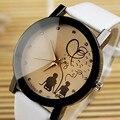 Amantes da moda Relógio de Genebra das Mulheres Estudantes Pulseira de Couro Crianças Relógios Pulseira de Relógio de Quartzo Relógio Feminino Montre Femme