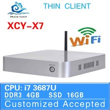 Thin Client HDMI Mini Computer Core i7 x7 Fan PC Windows 7 Laptop Computer 4G RAM 16G SSD 1.9GHz