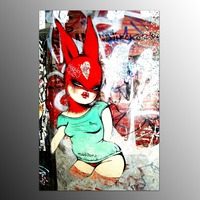 Canvas Art Prints Modern Printed Canvas Painting Bunny Girl Wall Art Canvas Printing For Home Decoration-No Frame