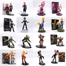 8 styles Anime Dragon Ball Z Son Goku Buu Boo Vegeta Cell Burdock Zamasu Nappa Action Figure PVC Figurine Collectible Model Toys