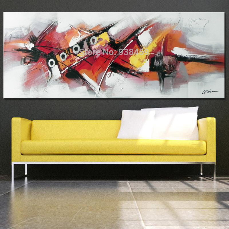 Large Modern Abstract oil Painting Hand Painted On Painting Heavy ...