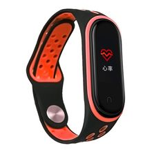 Watch Band For Xiaomi Mi 4 3 Smart Wristband Soft Two-color Silicone Replacement Strap