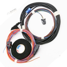 For VW Golf 6 MK6 Flip rearview View Reversing logo badge flip RGB Camera Cable Harness wire