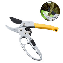 Pruning Shears Tools Ratchet Garden Steel scissors Anvil Hand Handle Designed Tree Clippers Small Scissors Gardening Tools