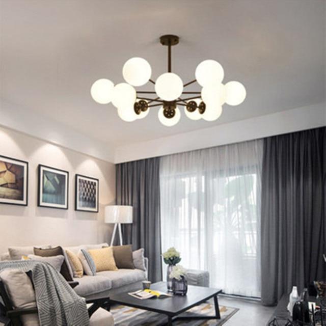 Scandinavian Style Chandelier Modern Simple Living Room Lighting Creative Magic Beans Personalized Restaurant Bedroom Lights