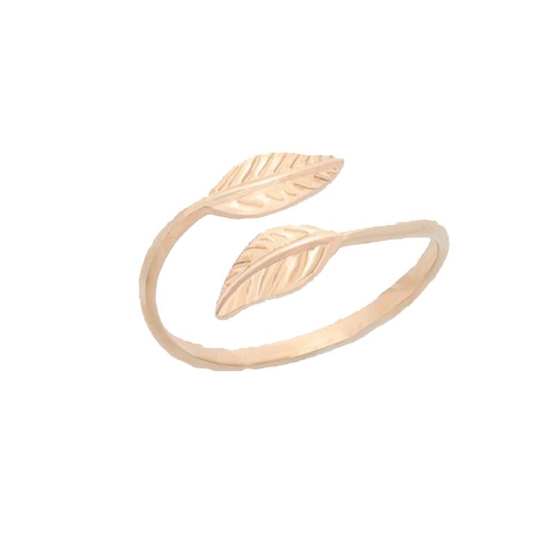 Mode Verstelbare Gold Filled Bladeren Leaf Takken Ringen voor Vrouwen - Mode-sieraden - Foto 3