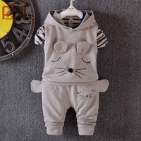 2016 Spring Fall Baby Clothing Sets Children Boys Girls Kids Brand Sport Suits Tracksuits Cotton Long