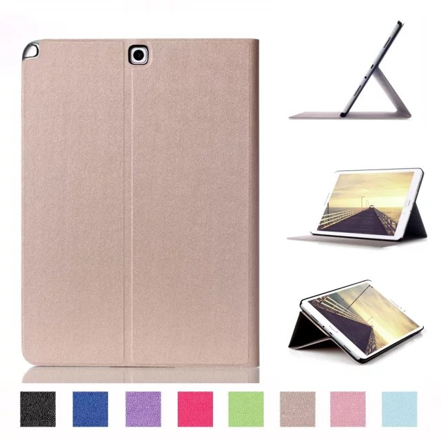 For Samsung Galaxy Tab A 9.7 SM-T550 SM-T551 SM-T555 T550 case Smart Leather Cover Shell Case with Stand Wake up/Sleep case for samsung galaxy tab a 9 7 inch tablet sm t555 t550 555 550 hybrid stand hard silicone rubber armor case cover gift 3in1