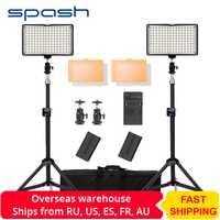 Spash TL-160S LED lumière vidéo caméra Photo lumière avec 200cm trépied support photographie éclairage studio LED lampes pour Youtube