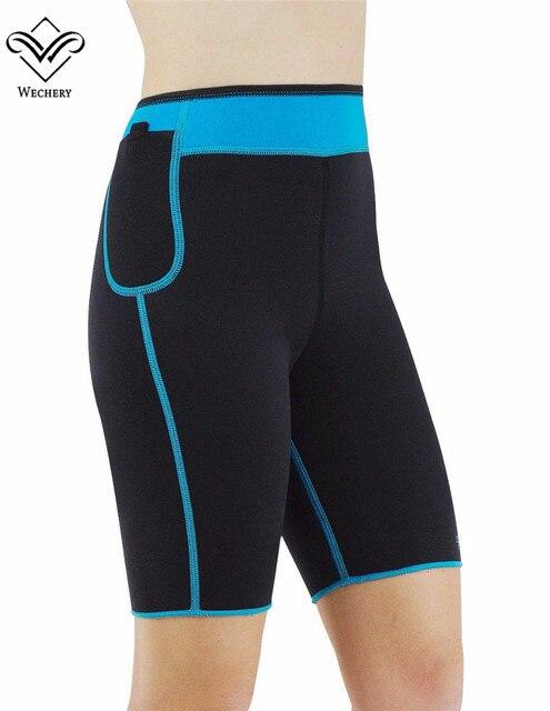Wechery Неопрена Управления Брюки Для Похудения Шорты Пот для Похудения Body Shaper Panty Fajas Butt Lifter Тонкий Shaperwear Оболочка