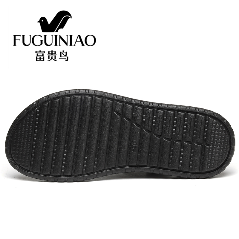 Casuais Genuíno De Couro Masculina Da Chinelos Marca Praia Sandálias Homens Verão Sapatos Preto Fuguiniao marrom Dos Respirável Moda Do qwxqza8FX