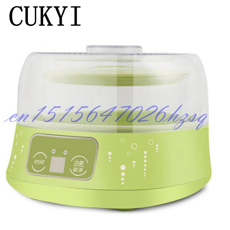 CUKYI 20W Household Electric Full-Automatic Ferment machine 1L+0.5L Multiple functional Mini Ferment maker Two Glass liners cukyi household electric multi function cooker 220v stainless steel colorful stew cook steam machine 5 in 1