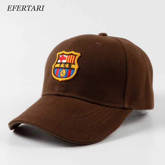 Barcelona AC Milan Football Cap Fashion Sports Hat Adjustable Baseball Cap  Brimmed Hat Tide Hats For Men and Women 7de65738879