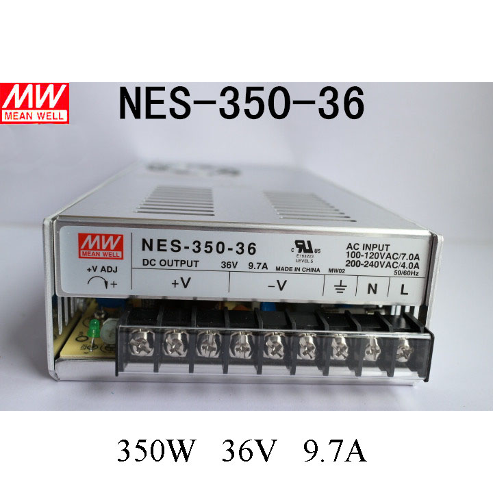 Mean Well Switching Power Supply 350W 36V 9.7A Single Output NES-350-36 for Embroidery Engraver Printer Plasma CNC Router Kits original meanwell nes 350 24 ac to dc single output 350w 14 6a 24v mean well power supply nes 350