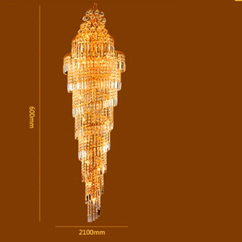 Penthouse grīdas viesistabas kristāla lukturu villas kāpnes Mājas - Iekštelpu apgaismojums - Foto 4