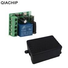 QIACHIP 433MHz DC 12V 1CH RF röle modülü evrensel kablosuz uzaktan kumanda anahtarı akıllı ev denetleyici alıcı için kapı kapı