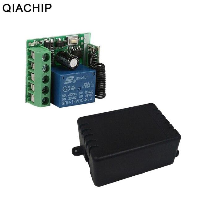 QIACHIP 433MHz DC 12V 1CH RF ממסר מודול האלחוטי אוניברסלי מתג בית חכם בקר מקלט עבור שער דלת