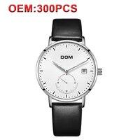 DOM Индивидуальные для мужчин часы дизайн свой собственный бренд стильный Спорт водостойкие кварцевые Мужской часы светящиеся Best Продавец