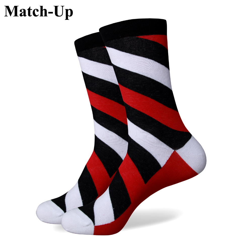 Match-Up Male Oblique Stripe Multicolour 100% Cotton Short Socks