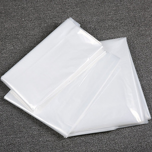 Image 5 - Disposable Transparent Dustproof Cover Plastic Hanging Bag for Clothes Garment Costum Suit Coat Protector Thickness 0.06mm AC027