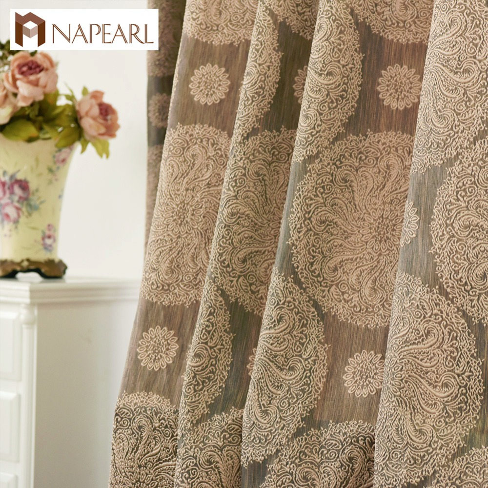 aliexpress : buy brown curtain living room european drapes curtains window blinds luxury