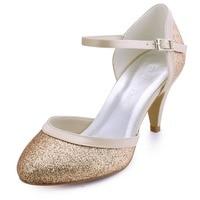 HC1510 Femmes de Chaton Talons Fermés Bout Fermé Toe À Talons Hauts Glitter PU De Mariage De Mariée De Bal Soirée Chaussures