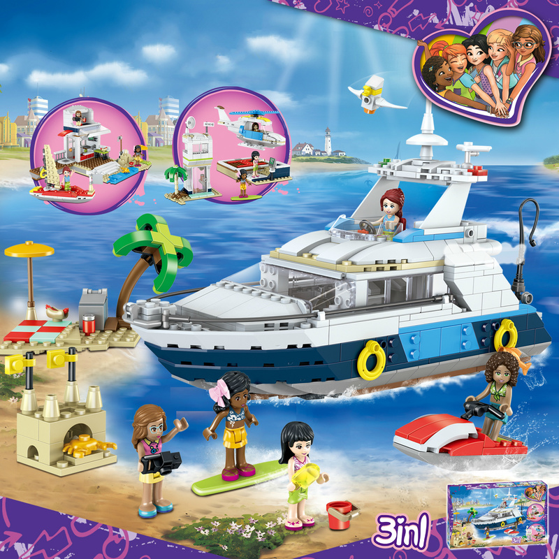 621 Pcs Luxury Vacation Cruise Blocks Learning Gift Building Blocks Toys Stephanie Mia Olivia Figure Compatible Legoings Friends stephanie angoh schiele
