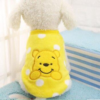 Dog Vest Winter Fleece Warm Vest Cartoon Rabiit Puppy Pet Dog Clothes for Small Dog T Shirt 10 Colour for Choose