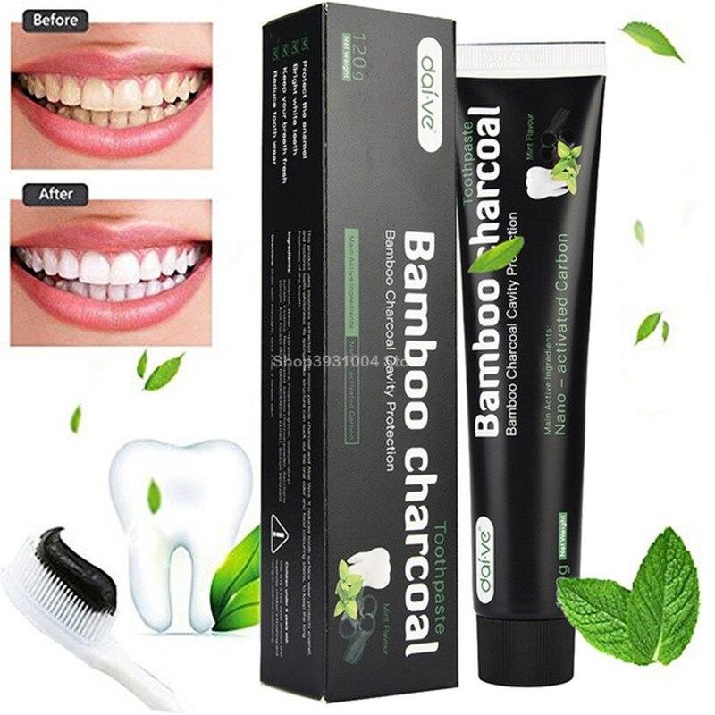 Уход за зубами бамбуковый натуральный активированный уголь Отбеливание зубов Гигиена полости рта зубной пасты Dental Прямая поставка