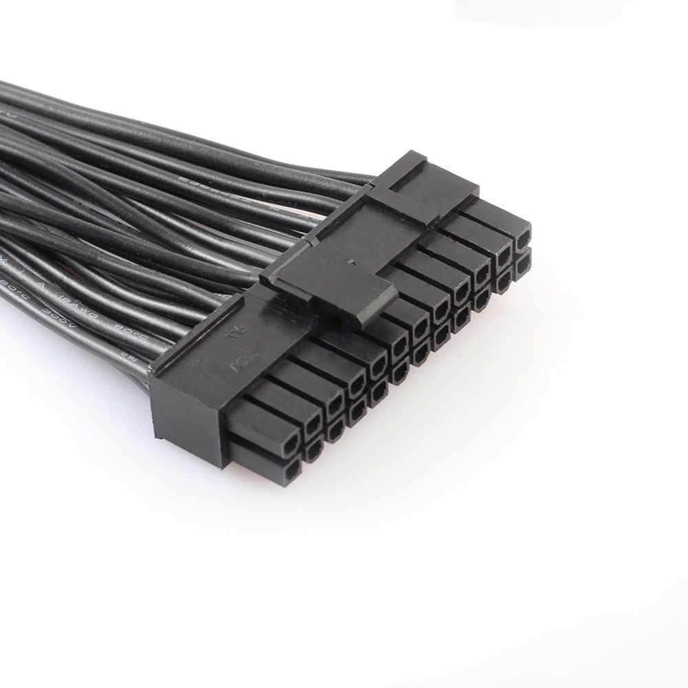 3 Port NETZTEIL 24 Pin ATX Netzteil 20 + 4PIN Motherboard Adapter Stecker Kabel 30cm 18AWG Dropship