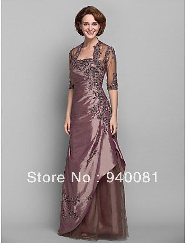 Vestidos para bodas lf2739 madre novio trajes de novia de seda negro ...