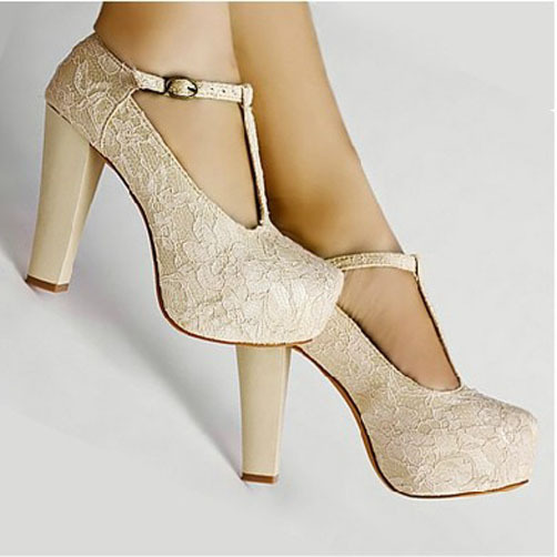 Wedding High Heels Ivory