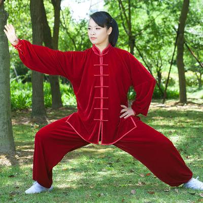 Unisex Tai chi clothes velour autumn and winter Taijiquan exercise clothing male female thickened velvet Wushu uniforms training трусы слипы tai magic boost velvet