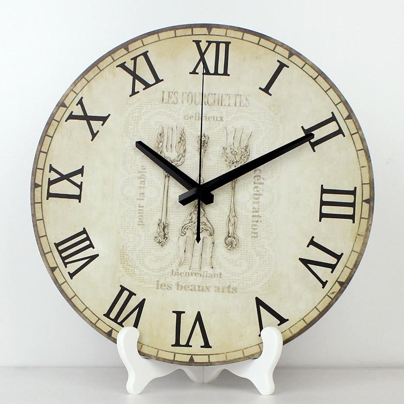 US $16.33 35% di SCONTO|Commercio all\'ingrosso 12 \'\'impermeabile orologio  faccia orologio da cucina più tranquillo home decor orologi da tavolo  design ...