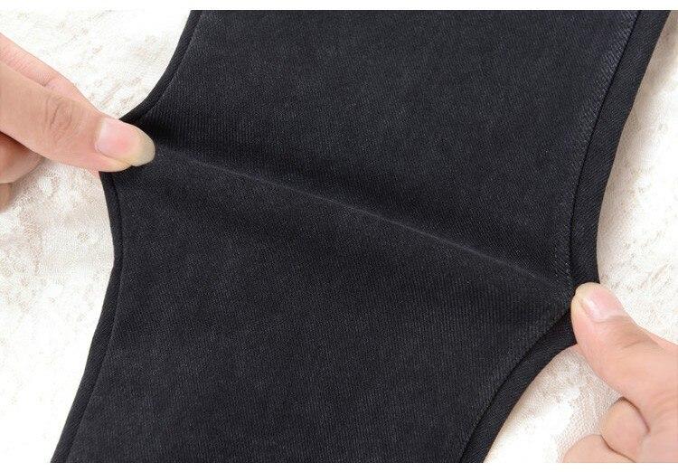 Pantallona të shkurtra pambuku pantallona xhins pëlhure pëlhurash - Veshje për femra - Foto 4