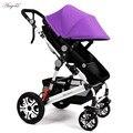 NUEVA 6 colores Bebé suspensión cochecito paisaje de alta altitud portátil y plegable de cuatro ruedas de dos niños cochecito de bebé