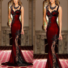 burgundy prom dresses 2019 sweetheart neckline beaded lace appliques mermaid evening gowns arabic