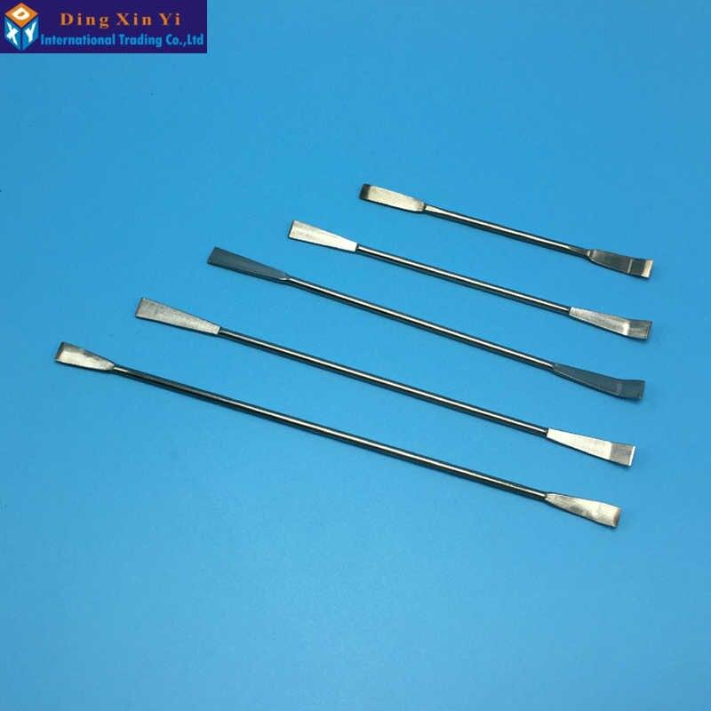5PCS/lot Lab Medicinal Ladle 12.5/14/16/18/20cm Stainless Steel Drug Scraper Double-end Medicinal Ladle