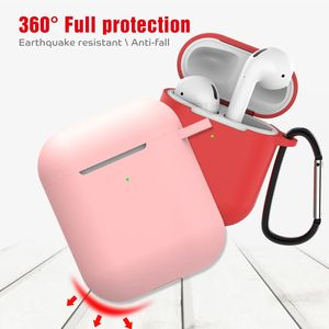 Image 4 - Solid Color Silicone Case for Airpods 2 Cute Protective Earphone Cover for Apple Airpods 2 Wireless Charging Box Shockproof Case