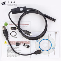 1M 2M 5M 5 5mm Endoscope Camera HD USB Android Endoscope Waterproof 6 LED Borescope Inspection
