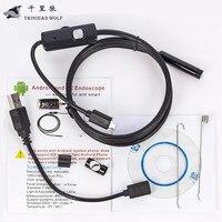 1M 2M 5M 5 5mm Endoscope Camera HD USB Android Endoscope Waterproof 6 LED Borescope Inspection