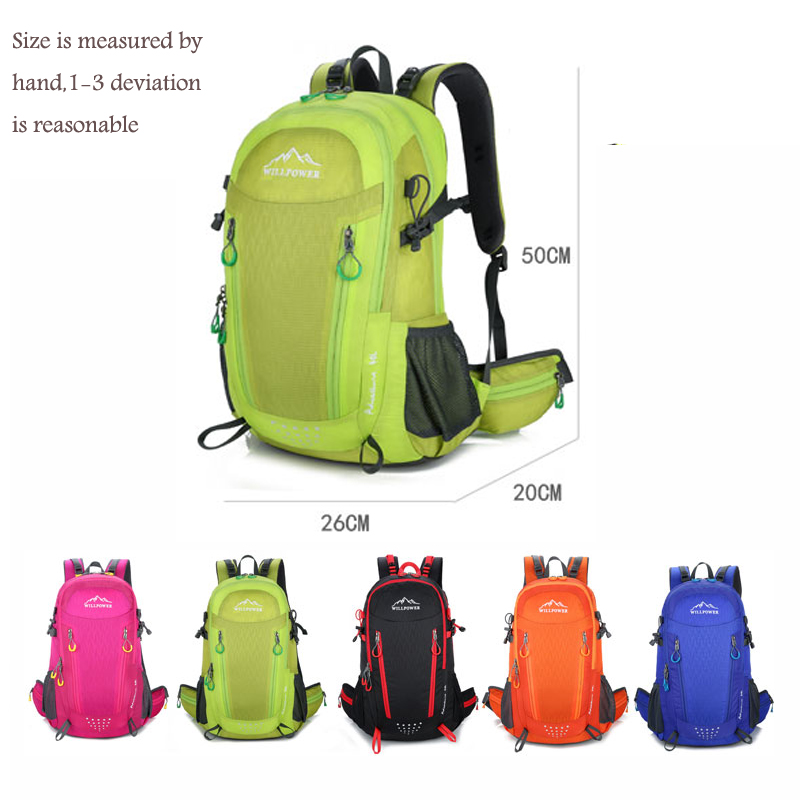 40L Waterproof Travel Backpack Mens Outdoor Camping Trekking Backpack Climbing Mountain Outdoor Backpack Sports Bag Bags 4