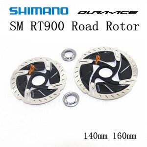 Image 2 - SHIMANO DURA ACE R9120 SM RT900 Rotor 140mm 160mm Straße Fahrräder Rotor SM RT900 R9120 R9170 CENTER LOCK Disc bremsscheibe